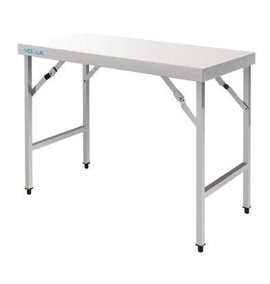 XXLselect Stainless Steel Folding Workbench   20.4 kg   1200 (b) x600 (d) X900 (H) mm