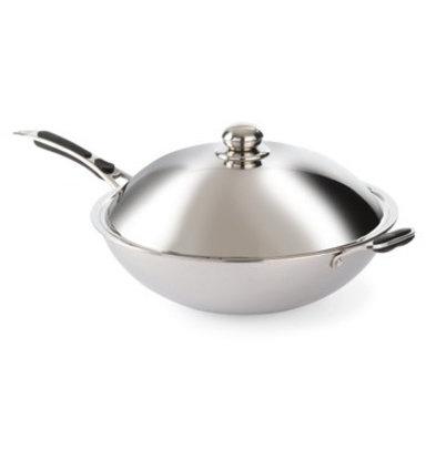 Hendi Stainless steel wok | Ø 360x (H) 180