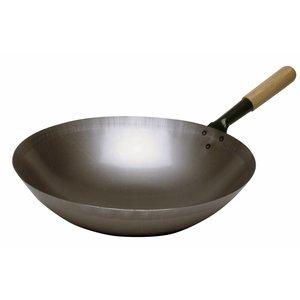 Bartscher Steel wok - 360mm - Round Bottom