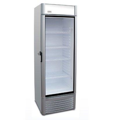 XXLselect Display refrigerator Green 400   Adjustable shelves   383 liter