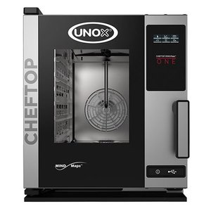 Unox Combisteamer One Electric Compact Combi Oven | XECC-0523-E1R a | 5 x GN 2/3 | 400V | 535x662x649(h)mm