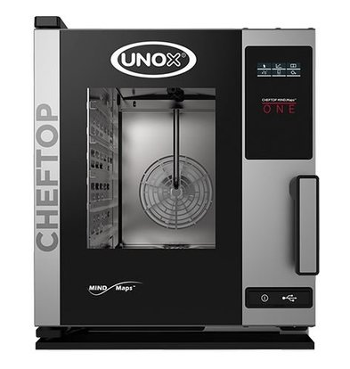 Unox Combisteamer One Electric Compact Combi Oven | XECC-0523-E1R a | 5 x GN 2/3 | 400V | 535x662x649 (h) mm