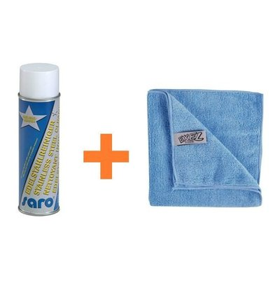 Stainless Steel Cleaning Set | Extra Shine Spray + Microfibre Cloths