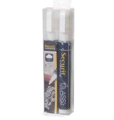 Securit Wasserdicht Chalk Marker Weiß | 2-6mm | 2 Stück