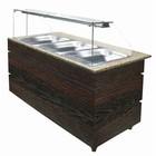 XXLselect Hot Buffet Wenge 1570 | 4x GN1 / 1 | 3020W | 1570x800x1355 (h) mm