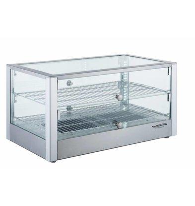 XXLselect Warming Showcase 80 Liter | 1000W | 700x400x376 (h) mm