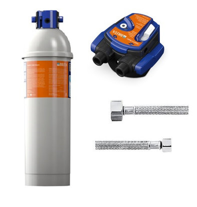 Brita Reinheit C500 Dampf | Kombidämpfer für bis zu 6 Stufen | Komplett-Set: Filterpatrone Filterkopf + + Anschlussschläuche