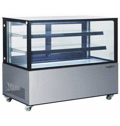 Combisteel Refrigerated display case 470 Liter | Forced, Refrigerant R134A | 1515x675x1220 (h) mm