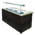 XXLselect Gekühlte Buffet Wenge 1250 | 3x GN1 / 1 | 553W | 1250x800x1355 (h) mm