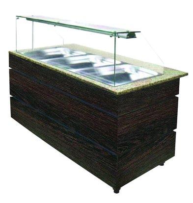 Combisteel Gekoeld Buffet Wenge 1250 | 3x GN1/1 | 553W | 1250x800x1355(h)mm