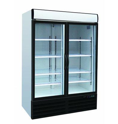 XXLselect Kühlschrank 2 Glastüren | 1079 Liter | Gezwungen, Kältemittel R134A | 1200x690x2050 (h) mm