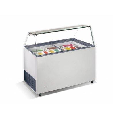 Combisteel Scoop Eis Display Teneriffa, 10x 5 Liter | 260W | Kältemittel R290 | 1439x727x1229 (h) mm