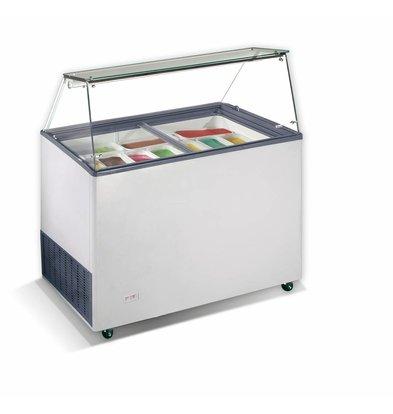 Combisteel Scoop Eis Display Java, 9x 5 Liter | 200W | Kältemittel R290 | 1184x727x1229 (h) mm