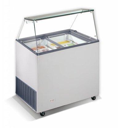 Combisteel Scoop Eis Anzeige Korsika, 6x 5 Liter | 190W | Kältemittel R290 | 909x644x1229 (h) mm