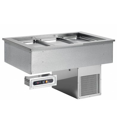 Combisteel Gekoelde Bak 6/1 | Drop-In | 275W | 6x GN1/1 | 2144x650x565(h)mm