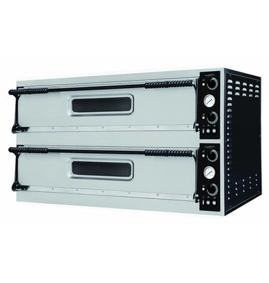 Combisteel Pizza Oven Double, 2 x 3 Pizzas Ø350mm | 8800W | 1305x600x745 (h) mm