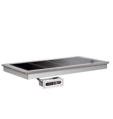 XXLselect Heated Plate 2/1 | Drop-In | 570W | 2x GN1 / 1 | 844x650x290 (h) mm