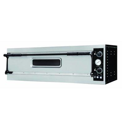 Combisteel Pizzaoven Enkel, 3 Pizza's Ø350mm | 4400W | 1305x600x413(h)mm