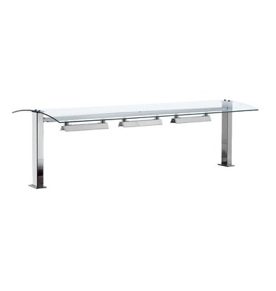 XXLselect Verwarmde Glasbrug 2/1 | Drop-In | 350W | 2x GN1/1 | 844x540x437(h)mm