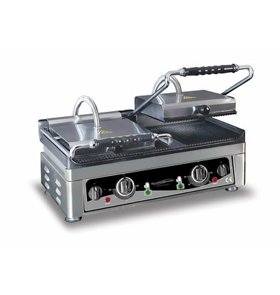 XXLselect Contact Grill Double | 3,5kW / 230V | 560x440x300 (h) mm