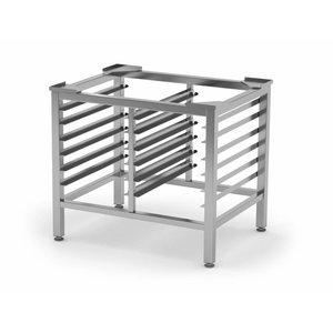 XXLselect RVS HEAVY DUTY Onderstel 10x 1/1GN | 2x 6 1/1GN Rails | 790x600x700mm