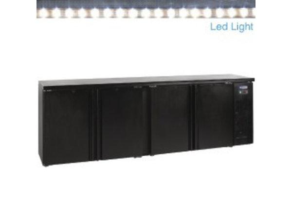 Diamond Flaschenkühler XXXL - LED-Beleuchtung - 4 Türen - 630 Liter - 2.542 (b) x513 (d) X860 (h)