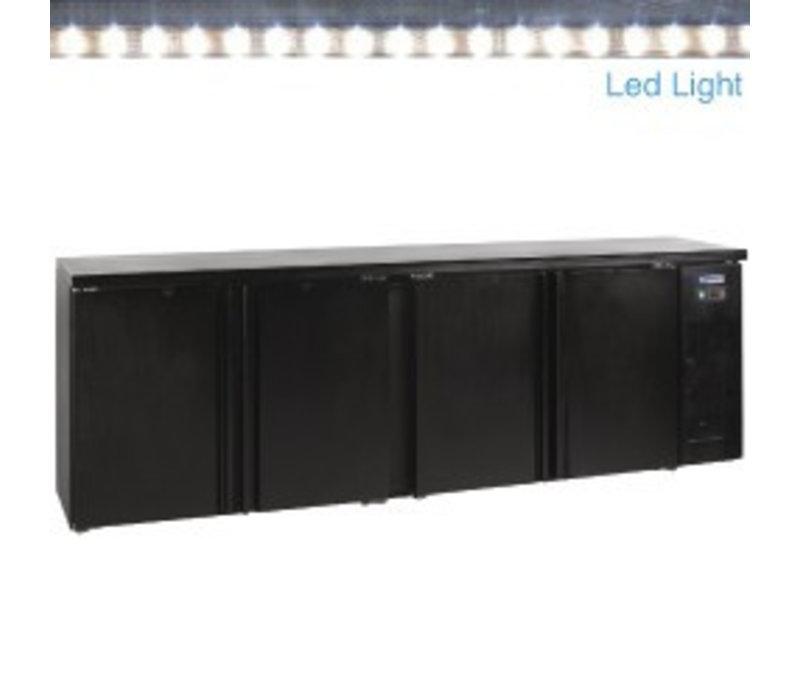 Diamond Flessenkoeler XXXL - Led-verlichting - 4 Deurs - 630 Liter - 2542(b)x513(d)x860(h)