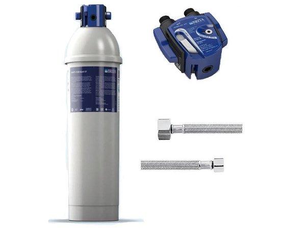 Brita Reinheit C500 Quell ST | für Eismaschinen bis 40kg | Komplett-Set: Filterpatrone Filterkopf + + Anschlussschläuche