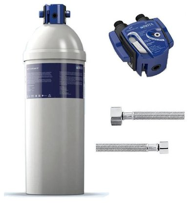 Brita Purity Quell ST C1100 | for Ice Machines> 40kg | Complete Set: Filter Cartridge Filter Head + + Connection Hoses