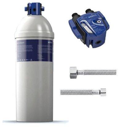 Brita Reinheit Quell ST C1100 | für Eismaschinen> 40kg | Komplett-Set: Filterpatrone Filterkopf + + Anschlussschläuche