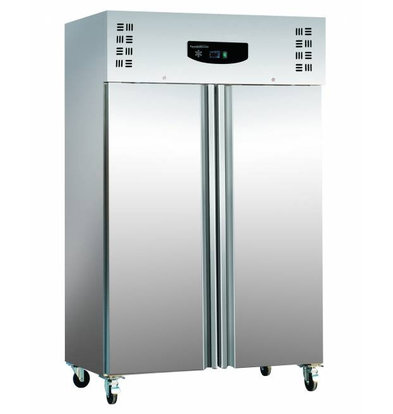 Combisteel Stainless steel refrigerator + ALU | Static, 1200 Liter | 6x GN2 / 1 | 600W | 1345x815x2010 (h) mm