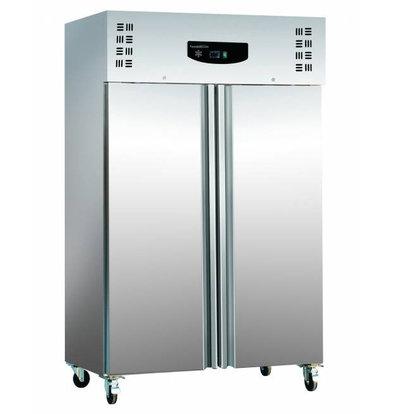 XXLselect Edelstahl Kühlschrank + ALU | Statische, 1200 Liter | 6x GN2 / 1 | 600W | 1345x815x2010 (h) mm