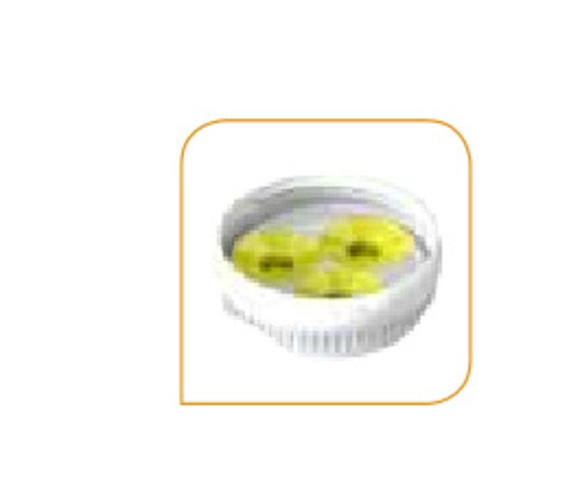 Drei-Loch-Membran für die Portion pal gelb