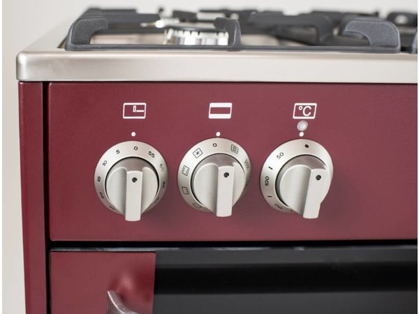 Saro Stovetop Red 5 Pits + Elektro-Ofen + Elektrogrill 90 Liter | 230 | 900x600x (H) 850mm