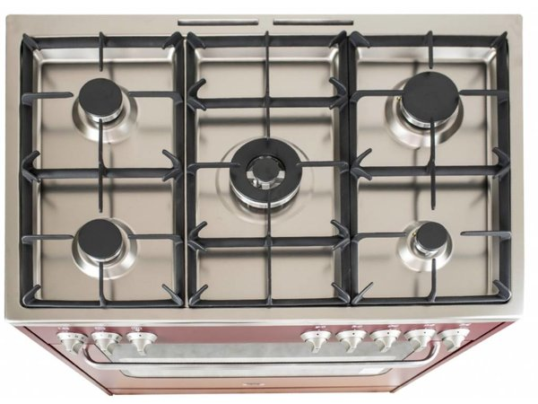 Saro Stovetop Red 5 Pits + Electric Oven + Electric Grill 90 Litre | 230 | 900x600x (H) 850mm