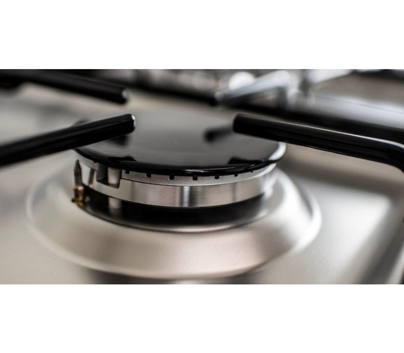 Saro Silber Gasherd mit 5 Stück + Elektro-Ofen + Grill 90 Liter   900x600x (H) 850mm
