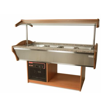 Saro Salad cool 4x1 / 1GN Walnut