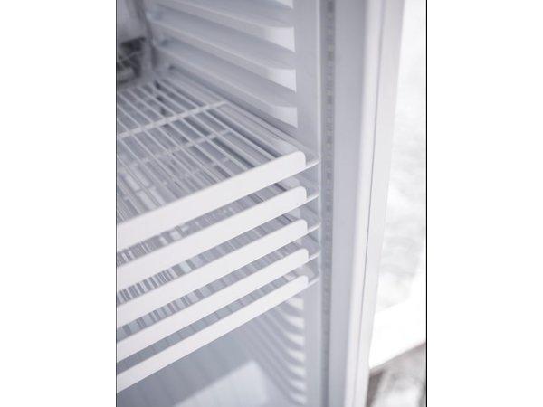 Saro Koelkast - Glazen deur - 390Liter - 59x61x(h)188cm - Links en Rechts Draaiende Deur