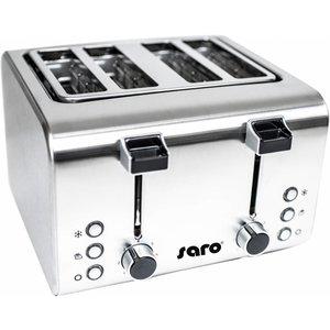 Saro Toaster - Broodrooster 4 sneden met timer - 320x280x200(h)mm