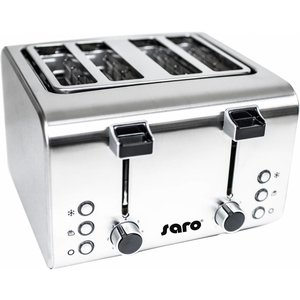 Saro Toaster - Toaster 4 slices with timer - 273x282x (H) 186mm - 1600W
