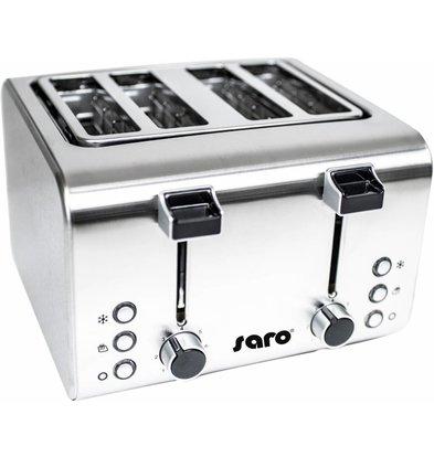 Saro Toaster - Toaster 4 Scheiben mit Timer - 273x282x (H) 186mm - 1600W