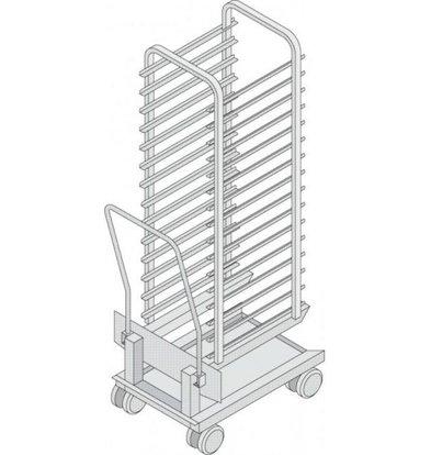 Rational Rational Mobiele Oven Rek voor model 202 | Hoogwaardig RVS | Capaciteit: 20 Rekken
