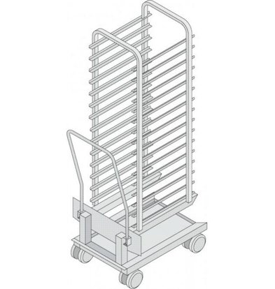 Rational Rational Mobile oven rack for model 202 | High quality stainless steel | Capacity: 16 Racks 80mm