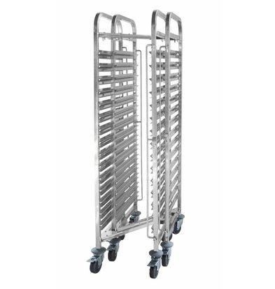 Hendi Regaalwagen Compact Lagerung | 15x GN1 / 1 | 1700 (h) mm | Geliefert zerlegt