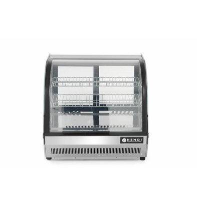 Hendi Pastry Refrigerated display case 110L | 3 Shelves | 3,8kW / 230V | 700x557x670 (h) mm