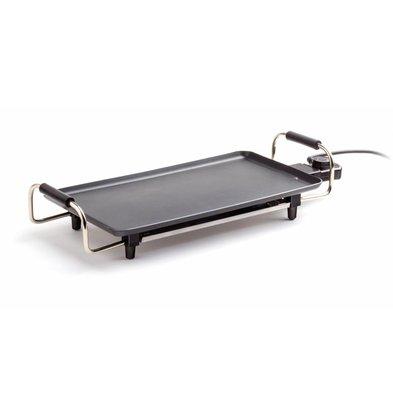 Hendi Teppanyaki Bakplaat | Anti-Aanbaklaag | 1800W | 550x230x110(h)mm