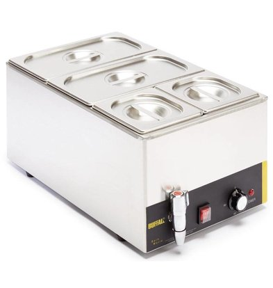 Buffalo Bain Marie | 2xGN1 / 3 + 2xGN1 / 6 | With drain valve | 340x540x (H) 340mm