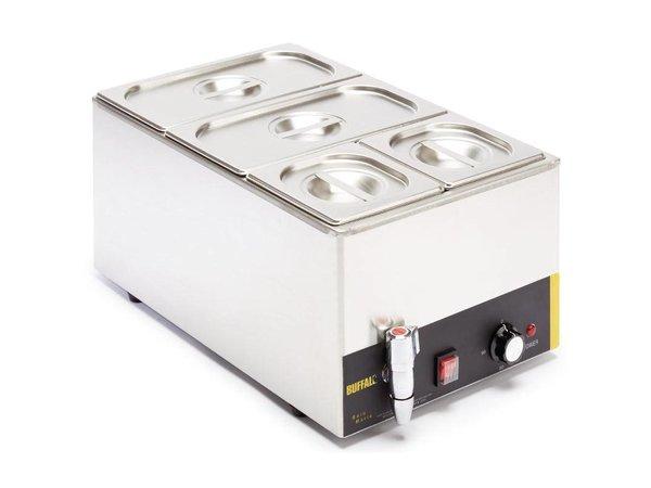XXLselect Bain Marie | 2xGN1 / 3 + 2xGN1 / 6 | With drain valve | 340x540x (H) 340mm