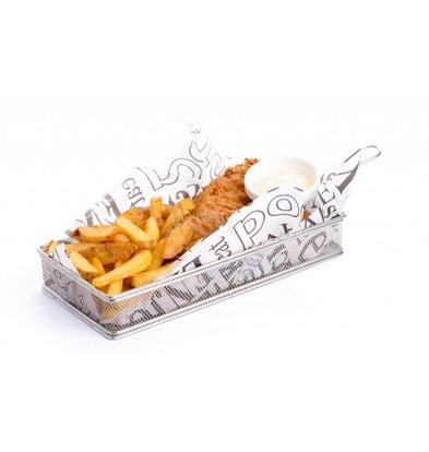 Hendi Presentation Fries Basket   275x130x45 (h) mm