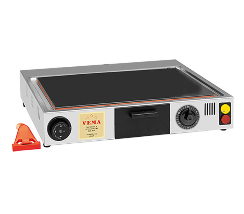 XXLselect Ceramic Griddle | Stainless Steel Casing | 1400W | 470x420x (H) 100mm